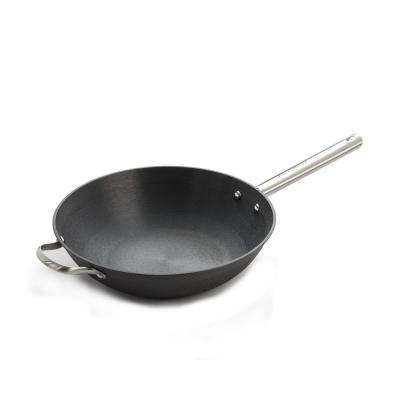 13 in. Cast Iron Chinese Wok with Assist Handle