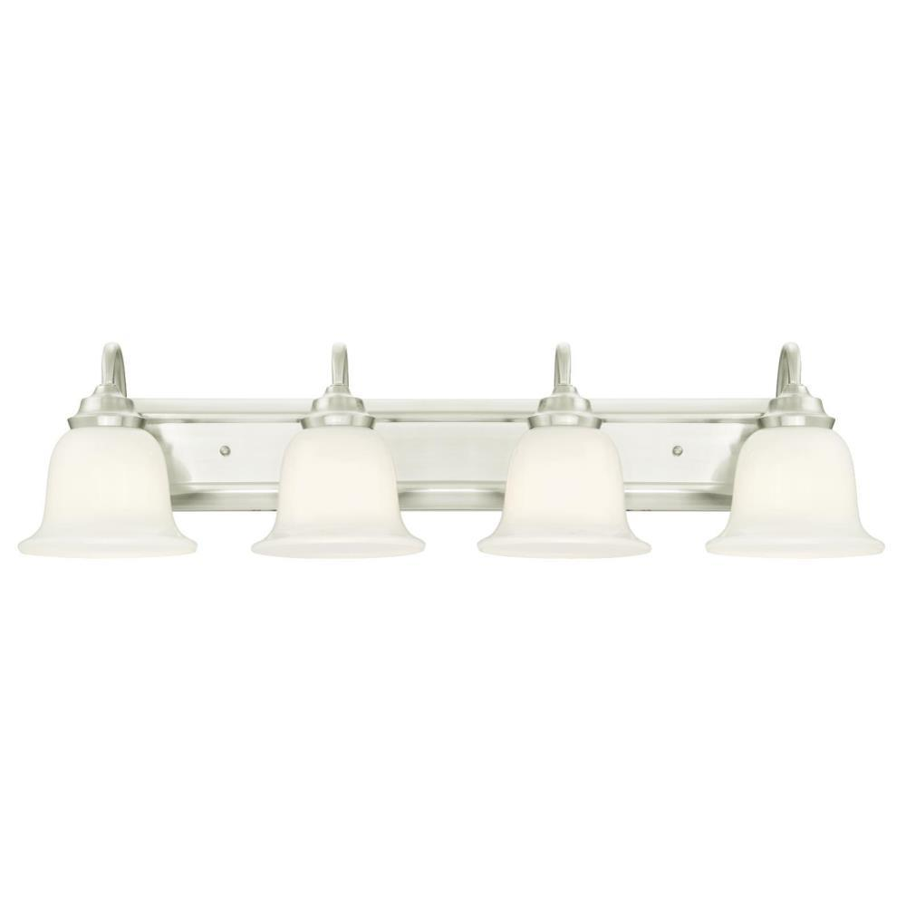 Harwell 4-Light Brushed Nickel Wall Mount Bath Light