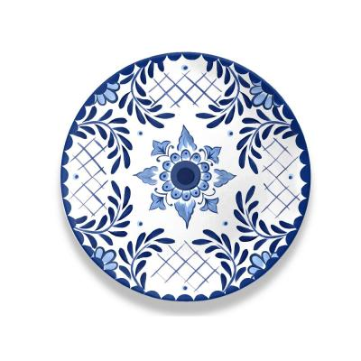Cobalt Casita Melamine Dinner Plate (Set of 6)