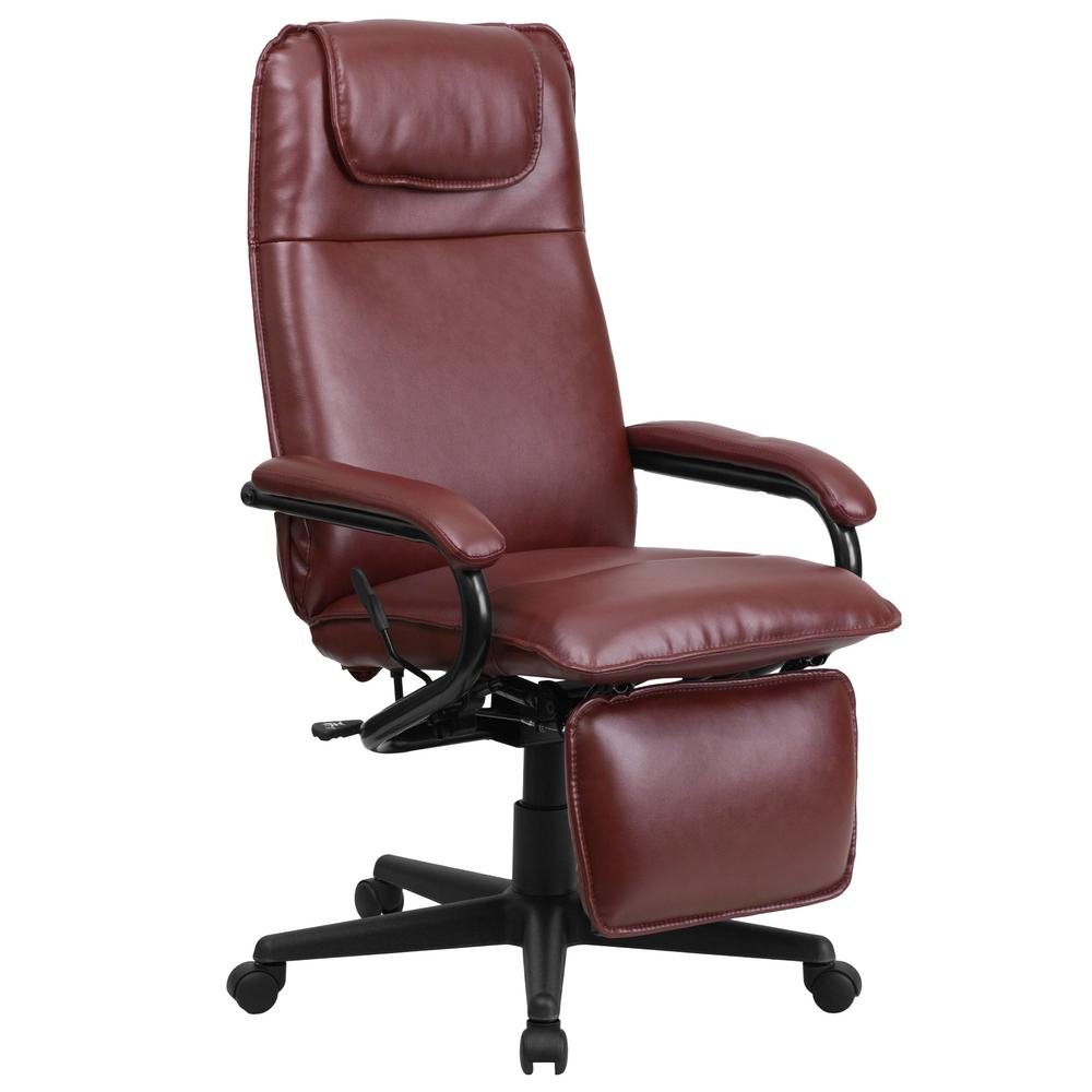 Flash Furniture High Back Burgundy Leather Executive Reclining Swivel  Office Chair