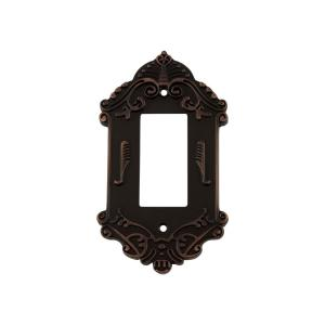 Nostalgic Warehouse Victorian Switch Plate with Single Rocker in Timeless Bronze by Nostalgic Warehouse