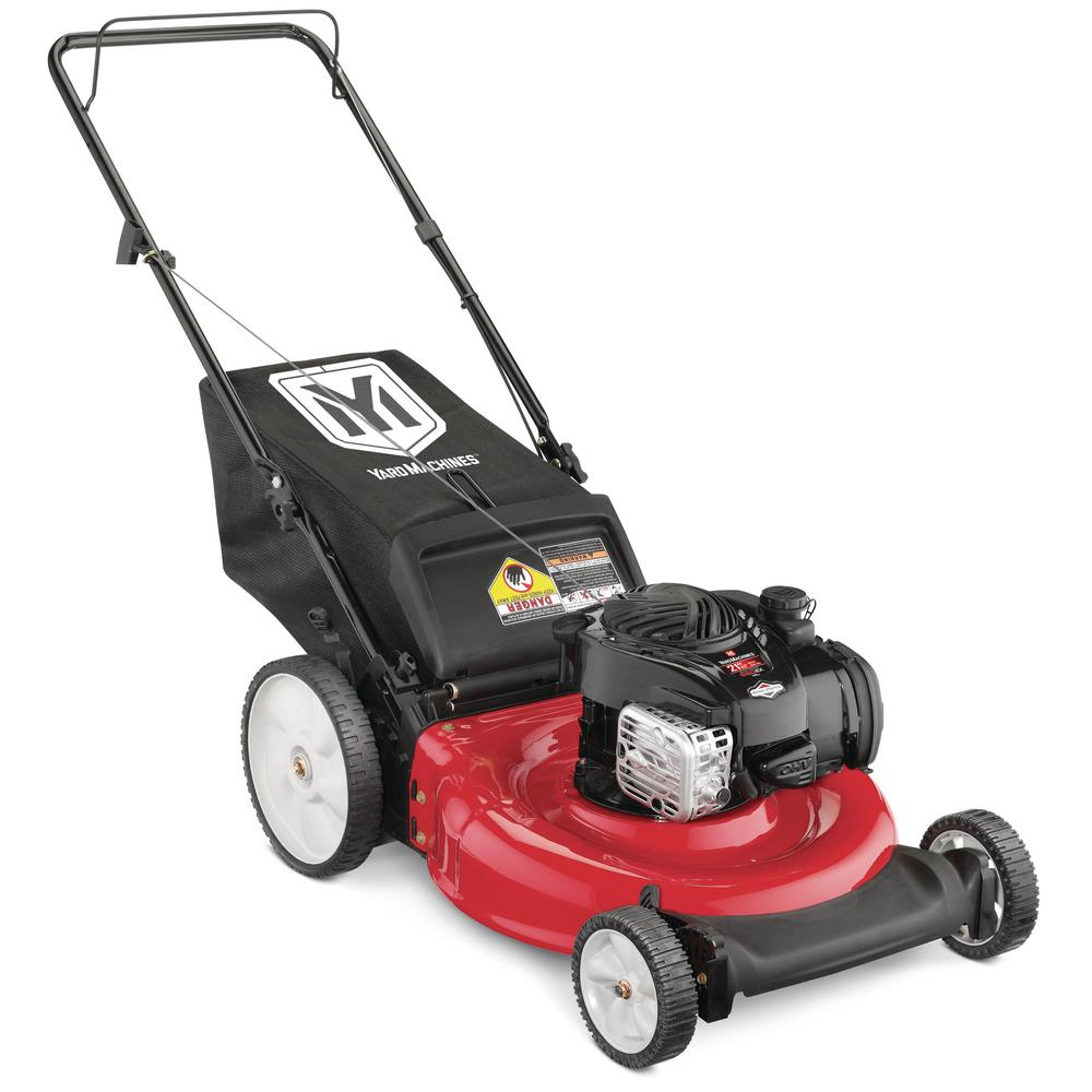 Yard Machines 21 in. 140 cc OHV Briggs and Stratton Walk Behind Gas ...