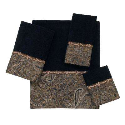 Bradford 4-Piece Bath Towel Set in Black