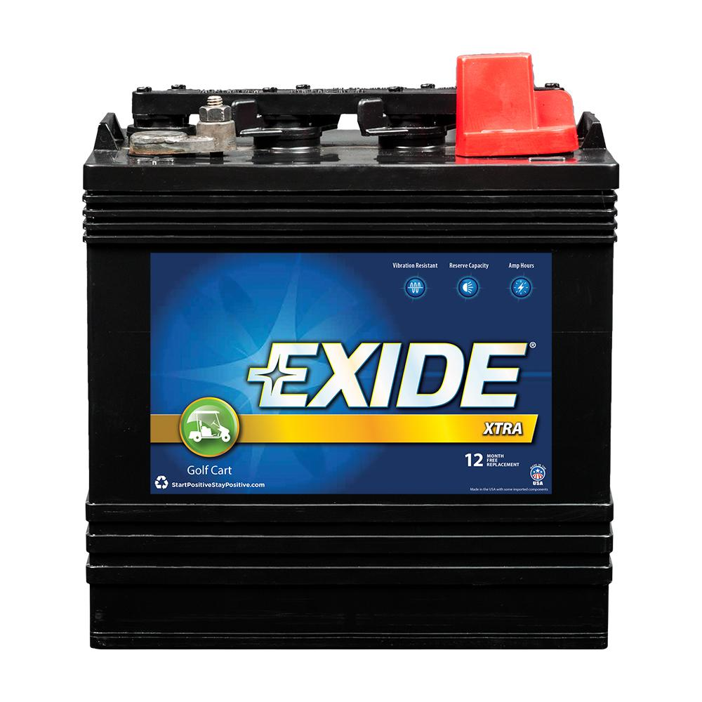 exide golf cart battery xtra 8 volts lead acid 4 cell. Black Bedroom Furniture Sets. Home Design Ideas