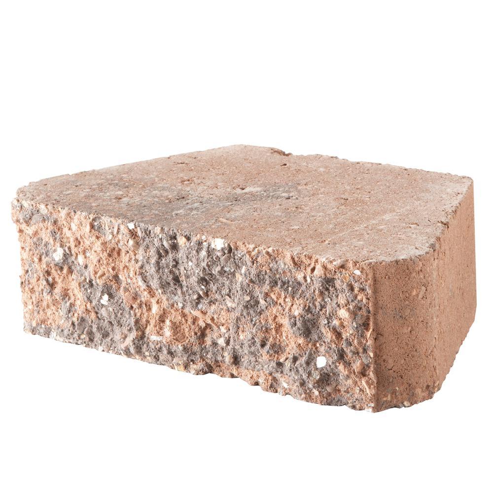 5.87 in. L x 10 in. W x 3 in. H Antique Terra Cotta Concrete Retaining Wall Block (280-Piece/58.4 sq. ft./Pallet)