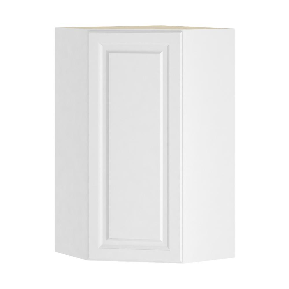Hampton Bay Madison Assembled 24x42x24 In Corner Wall Cabinet In Warm White Wcd242442 Mww The