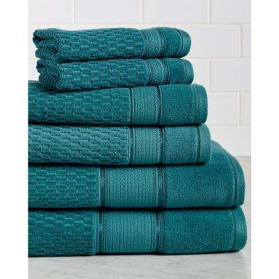 Royale 6-Piece 100% Turkish Cotton Bath Towel Set in Everglade