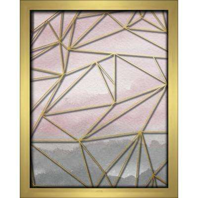 Fractal Watercolor-Blush 8 in. x 10 in. Shadowbox Wall Art