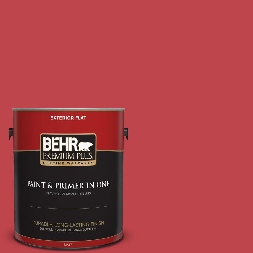 Home Decorators Collection 1-gal. #HDC-FL13-1 Glowing Scarlet Flat Exterior Paint
