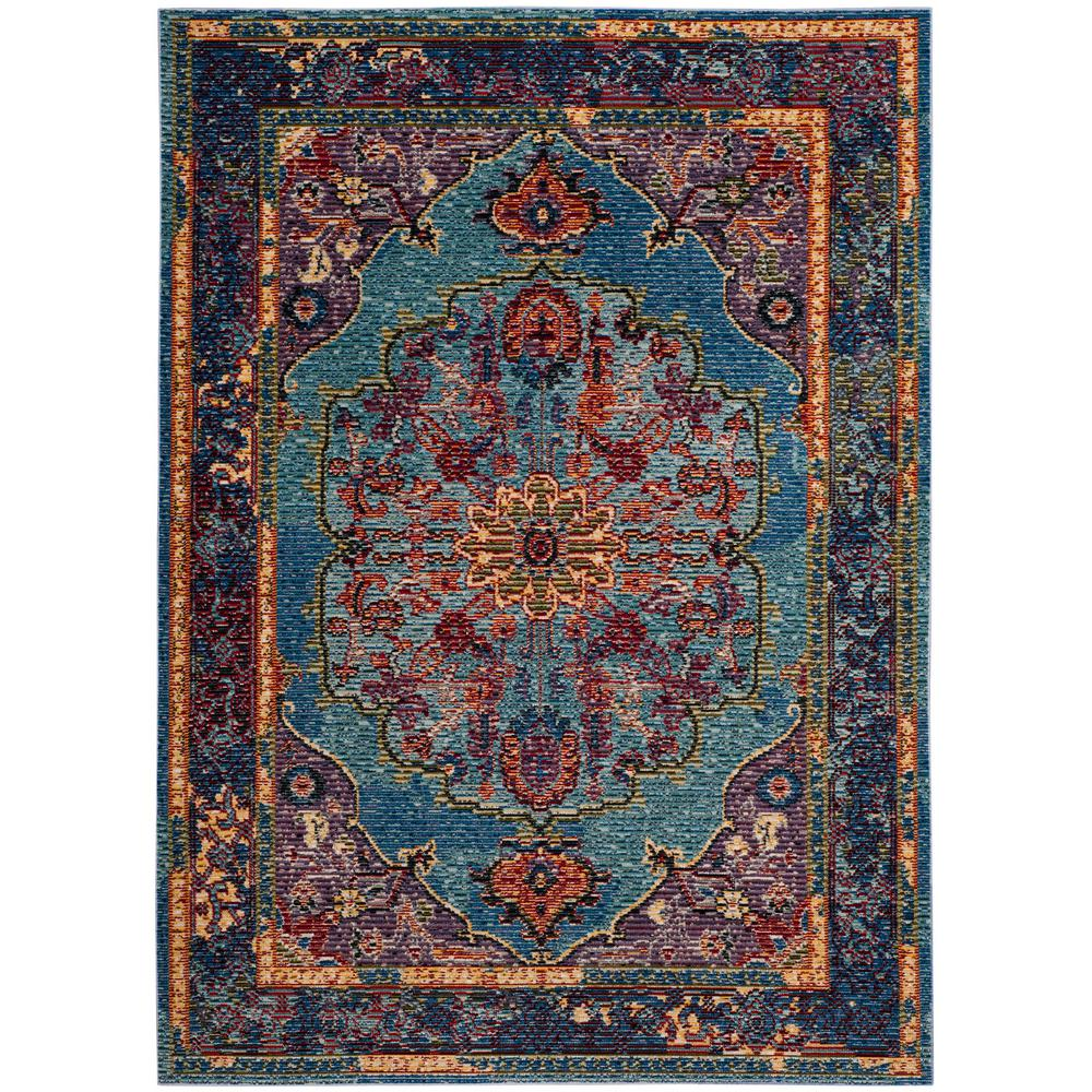 Safavieh Harmony Bluepurple 6 Ft 7 In X 9 Ft 2 In Area Rug