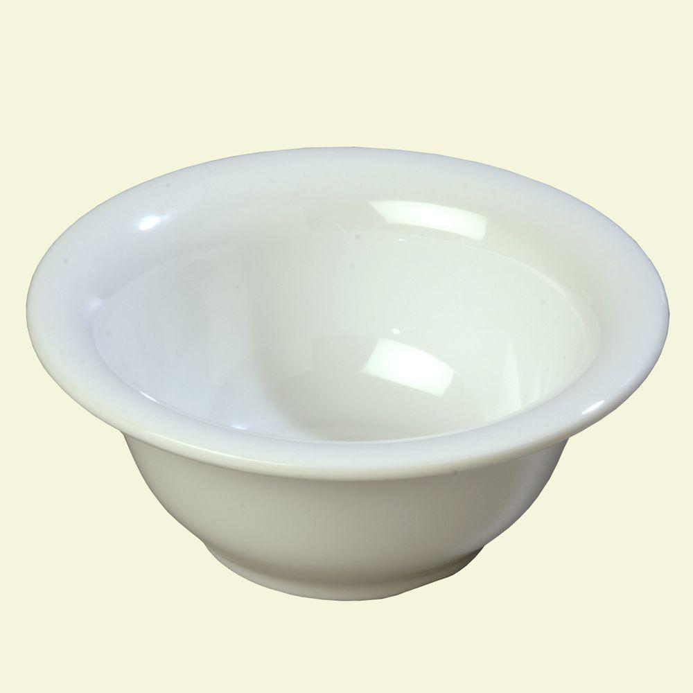 10 oz., 5.38 in. Diameter Melamine Rimmed Nappie Bowl in White