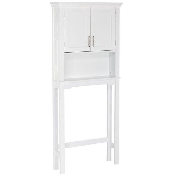 Somerset Collection 27.3 in. W x 64.2 in. H x 7.87 in. D Spacesaver in White