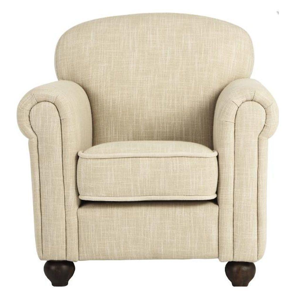 Jody Beige Linen Kid's Arm Chair