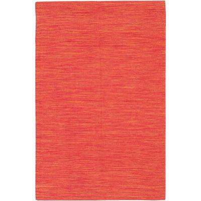 India Bright Red 2 ft. x 3 ft. Indoor Area Rug