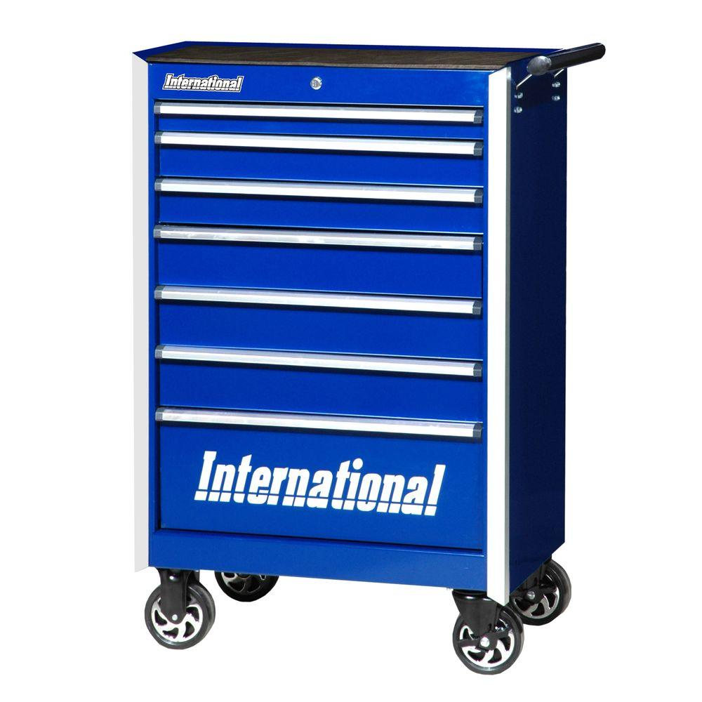 Pro Series 27 in. 7-Drawer Cabinet, Blue