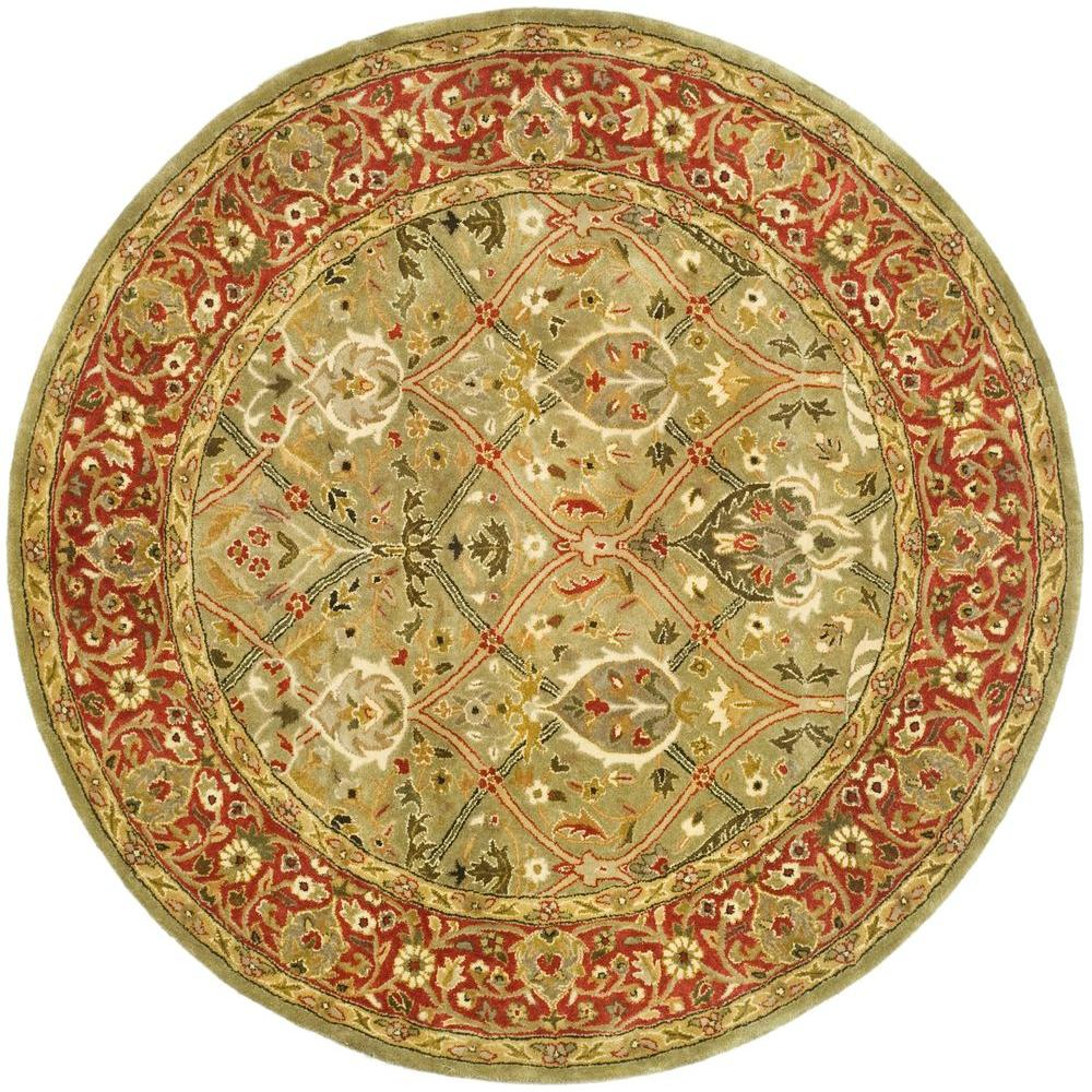 Safavieh Persian Legend Light Green/Rust 8 ft. x 8 ft. Round Area Rug