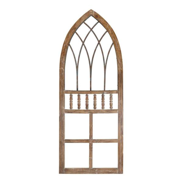 Cathedral-Style Wood & Metal Arch Panel