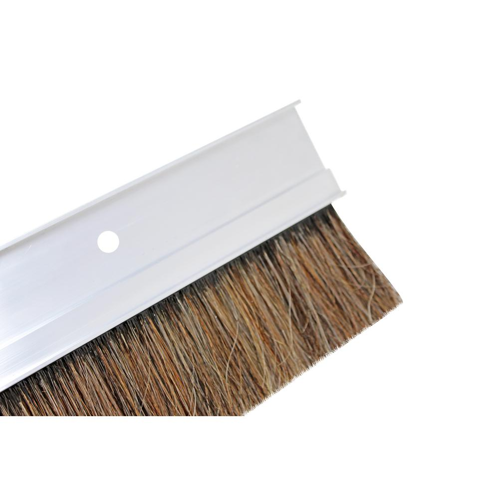 36 in. Aluminum Natural Horsehair and Poly Blend Concrete Finish Broom