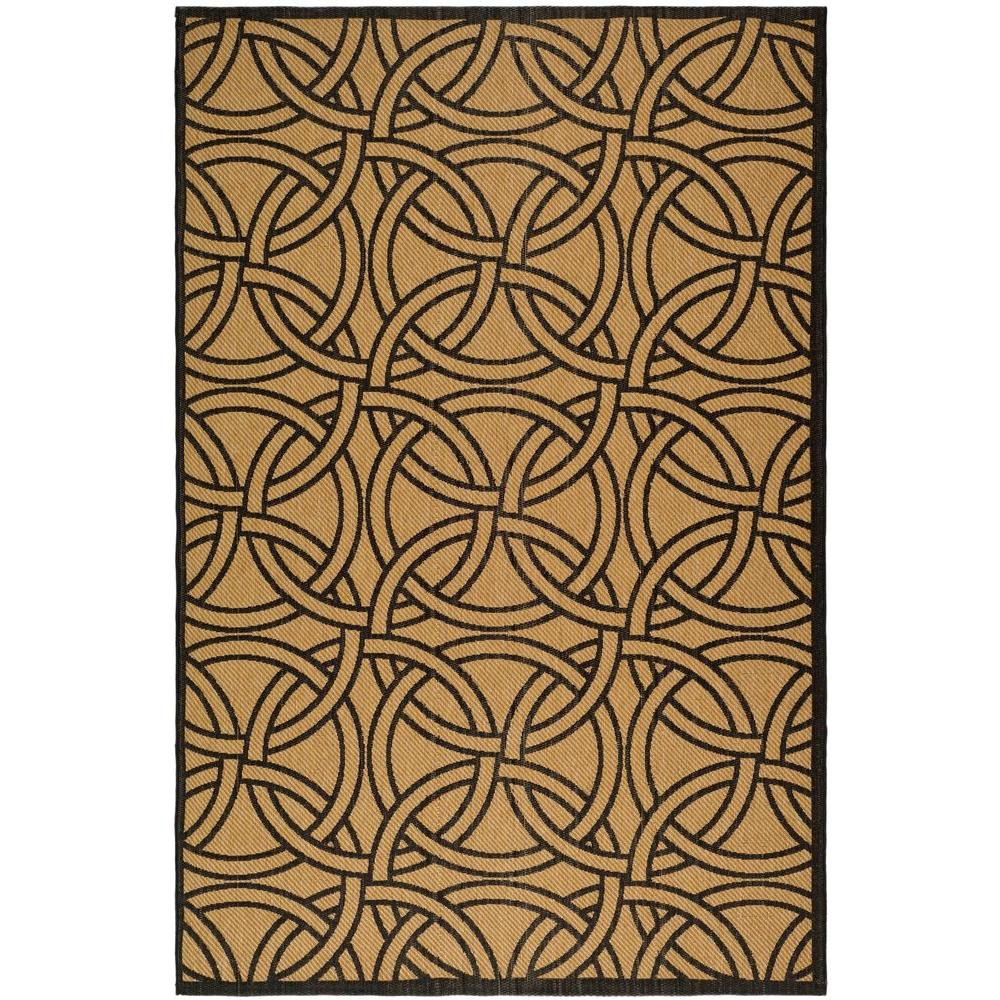 Martha Stewart Living Martha Stewart Links Gold/Black 5 ft. 3 in. x 7 ft. 7 in. Area Rug