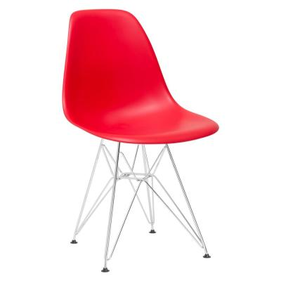 Padget Chrome and Red Side Chair