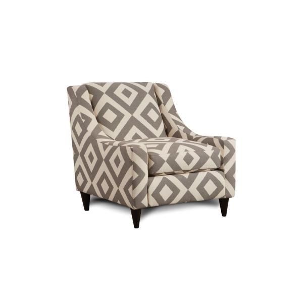 . Parker Ivory and Gray Pattern Contemporary Style Living Room Chair