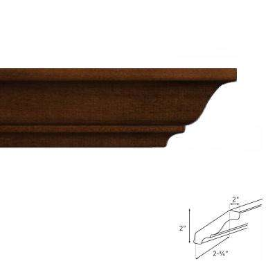 4.5 in. x 90 in. Crown Molding in Java