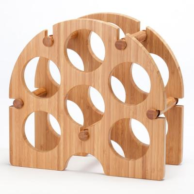 Bamboo Arch 6-Bottle Wine Rack