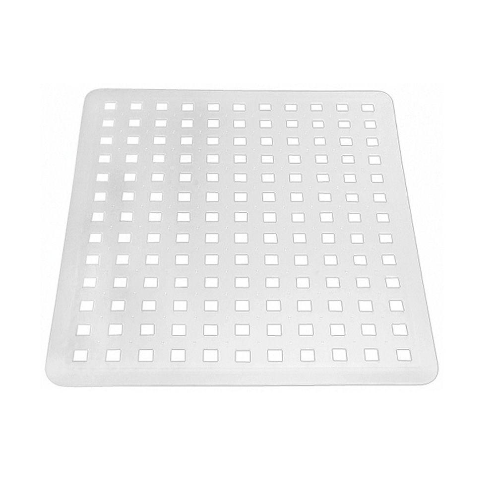 interDesign Contour Sink Mat in Clear-59060 - The Home Depot