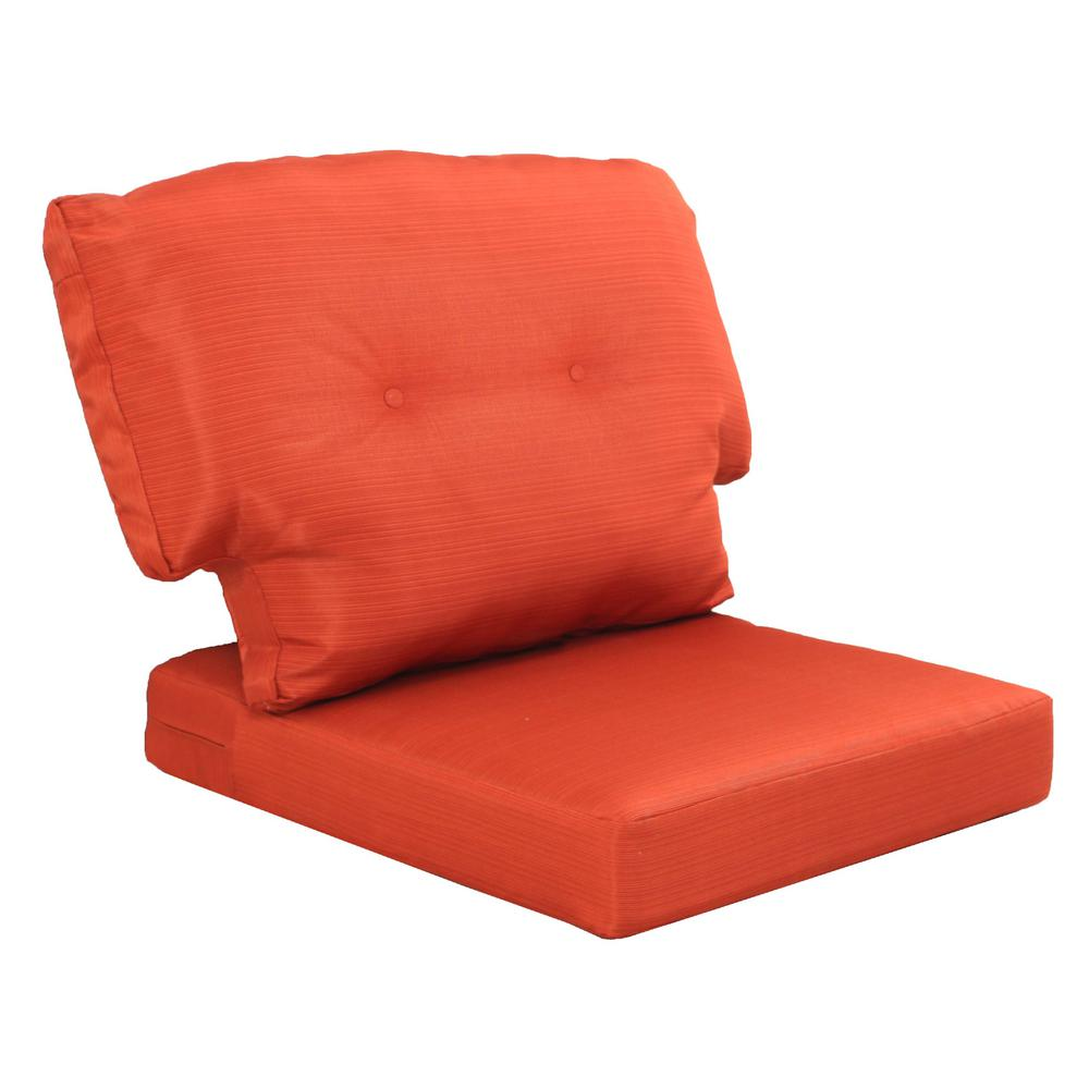 Martha Stewart Living Charlottetown Quarry Red Replacement Outdoor Chair  Cushion - Martha Stewart Living Charlottetown Quarry Red Replacement Outdoor