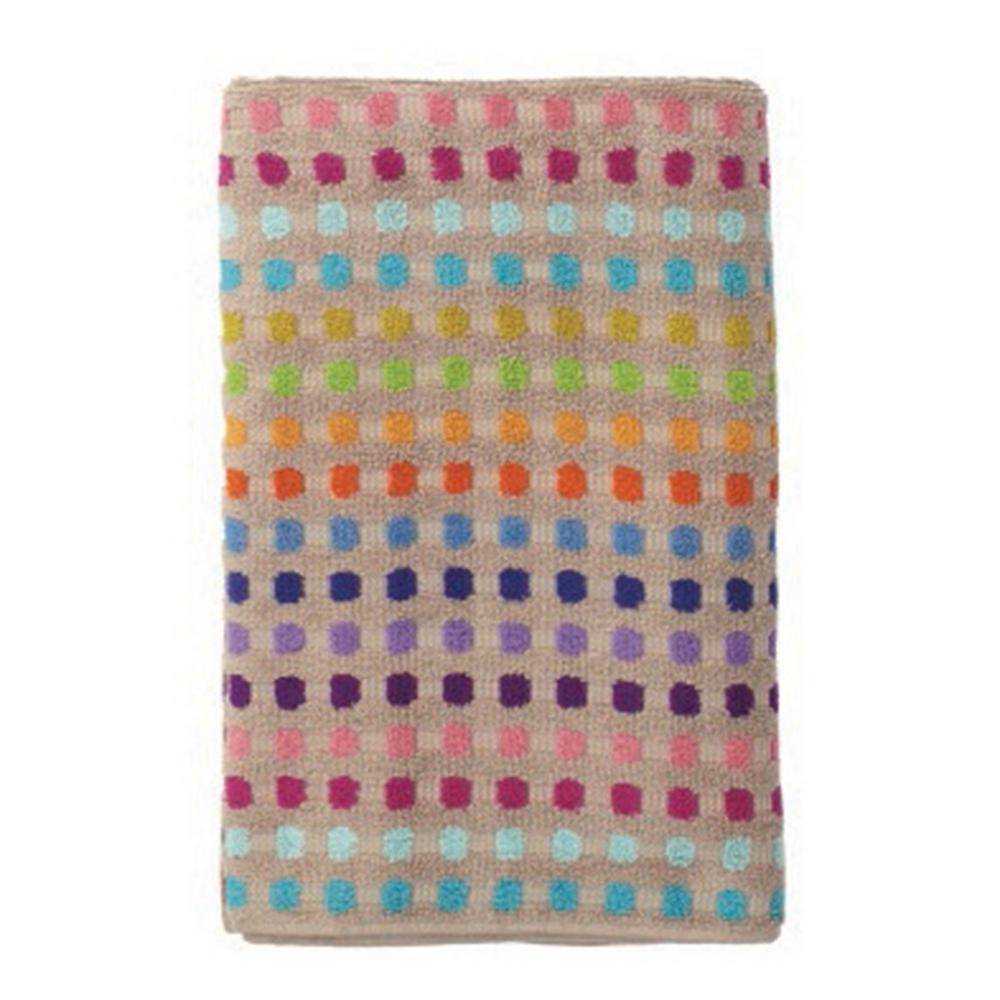 Spectrum Multicolored Geometric Cotton Bath Sheet