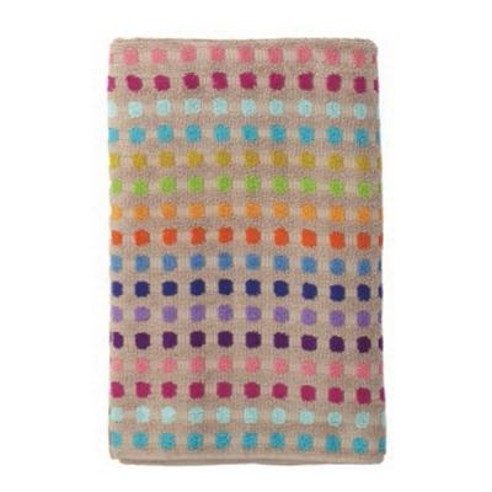 Spectrum Multicolored Geometric Cotton Hand Towel