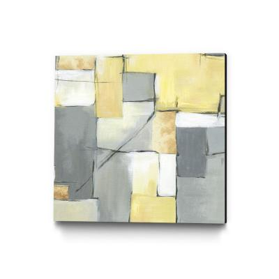 "30 in. x 30 in. ""Golden Abstract"" by Eva Watts Wall Art"