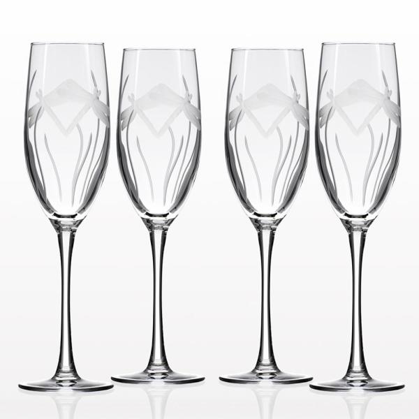 Rolf Glass Dragonfly 8 oz. Clear Champagne Flute (Set of 4)