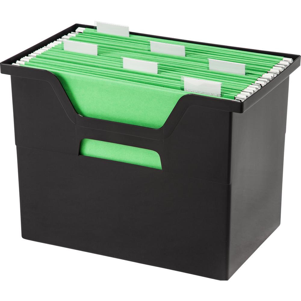 IRIS Large Desktop File Box in Black (4 per Pack)