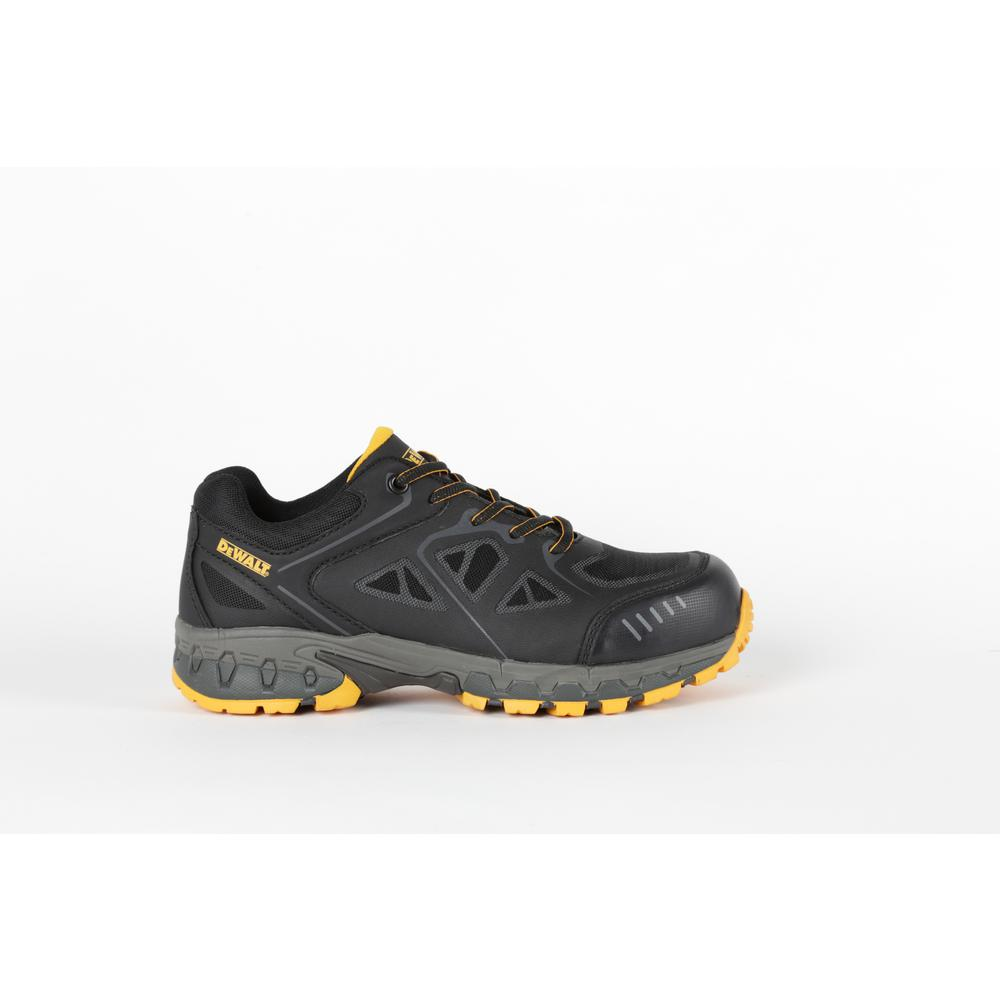 DEWALT Men's Angle Slip Resistant Athletic Shoes - Steel Toe - Black/Yellow Size 10.5(W)