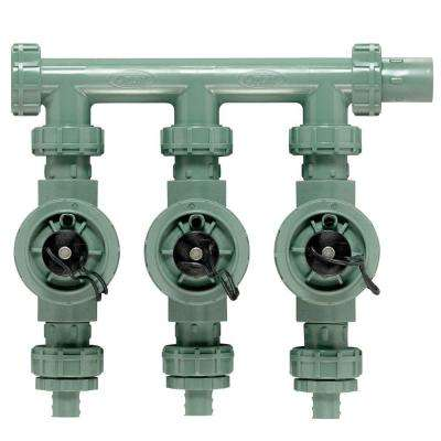 3-Valve Inline Manifold Assembly for Poly