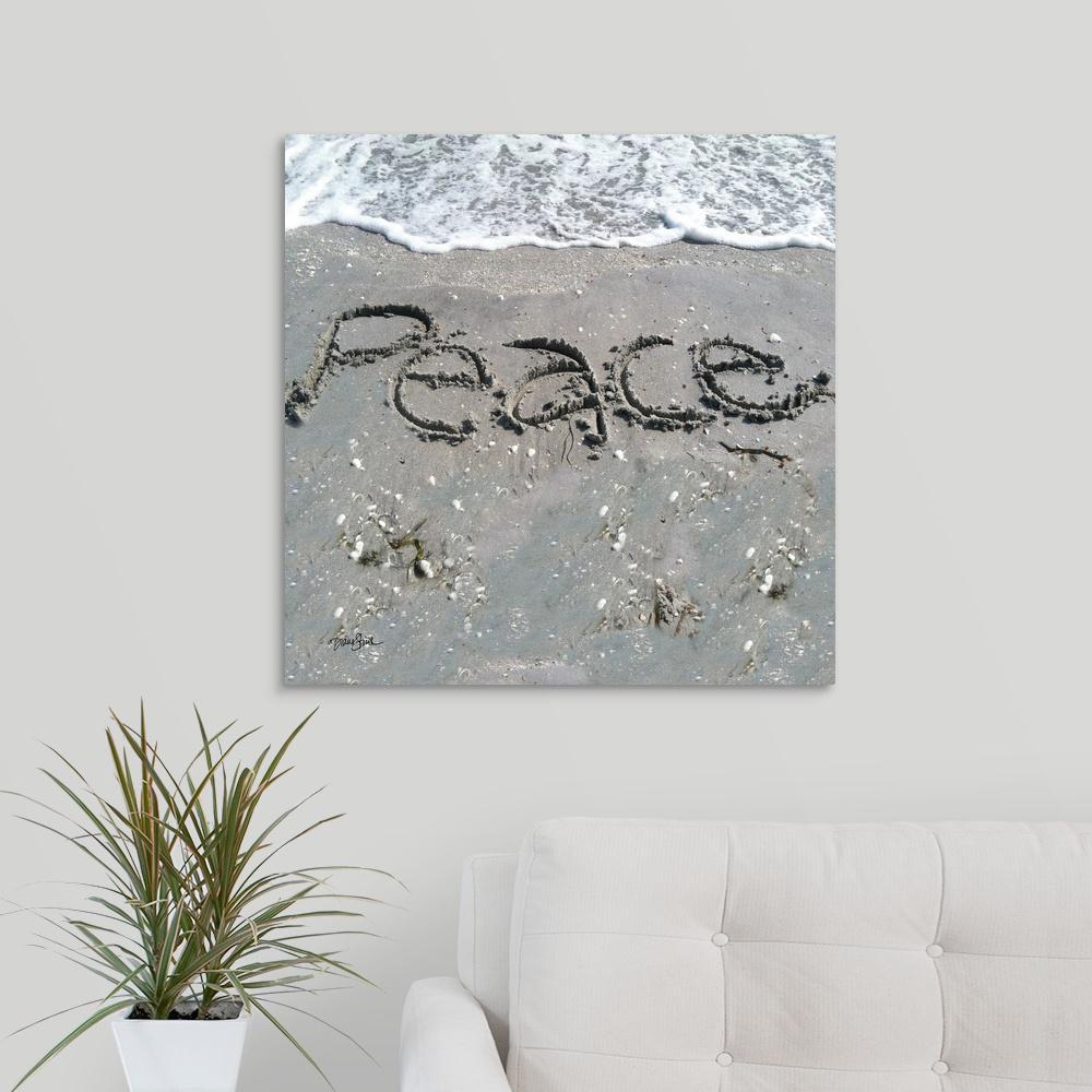 ''Coastal Peace'' by Diane Stimson Canvas Wall Art
