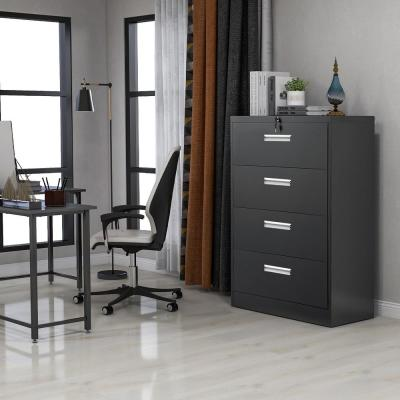 Black Big Capacity Lateral File Cabinet with Lock