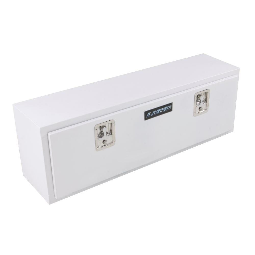 Lund 48 in White Steel Full Size Top Mount Truck Tool Box