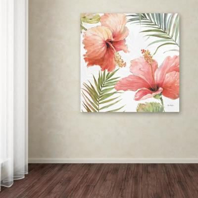 """14 in. x 14 in. """"Tropical Blush II"""" by Lisa Audit Printed Canvas Wall Art"""