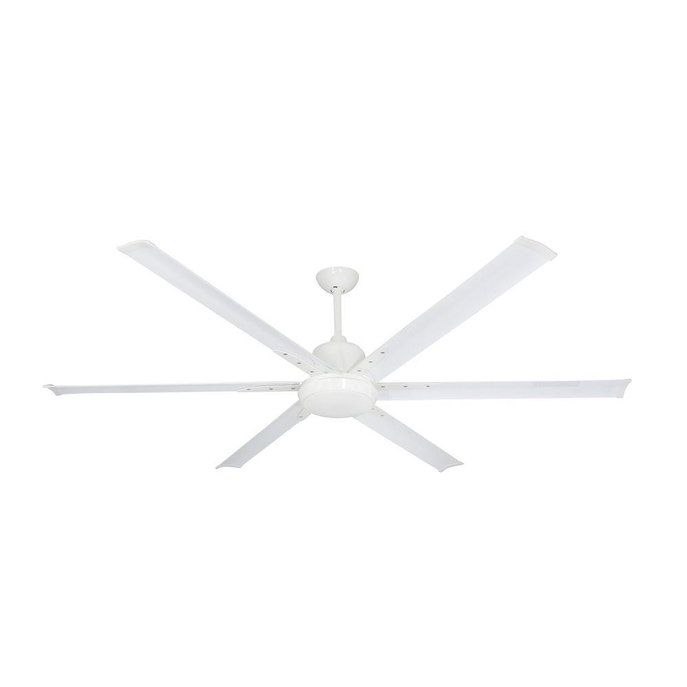 TroposAir Titan 72 in. Indoor/Outdoor Pure White Ceiling Fan with ...