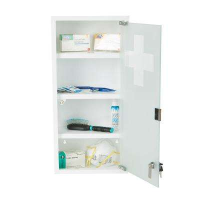 10.5 in. W x 22.25 in. H x 4.75 in. Surface Mount Medicine Cabinet  in 4-Tier Wall Mounted with Tempered Glass