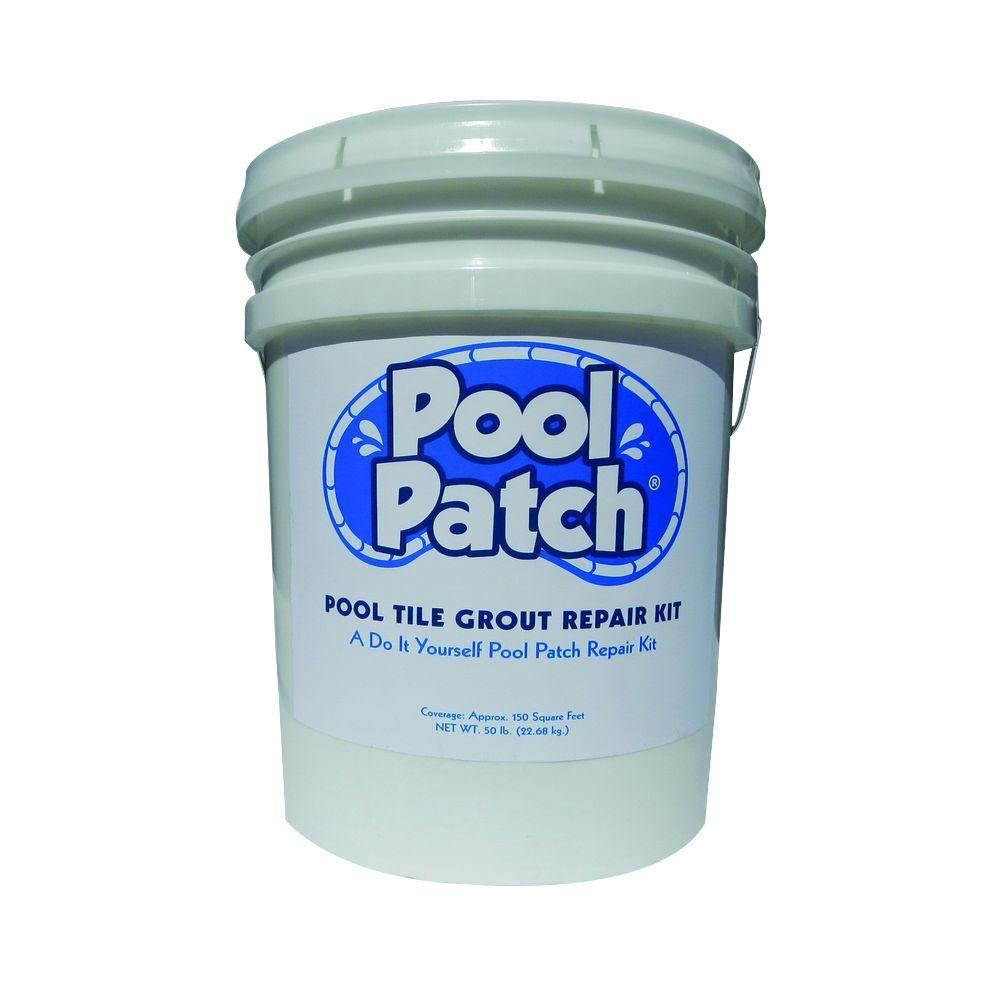 Pool Patch 50 Lb White Pool Tile Grout Repair Kit Ptgrw50
