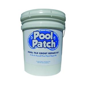 Pool Patch 3 lb. White Pool Tile Grout Repair Kit-PTGRW3 - The Home ...
