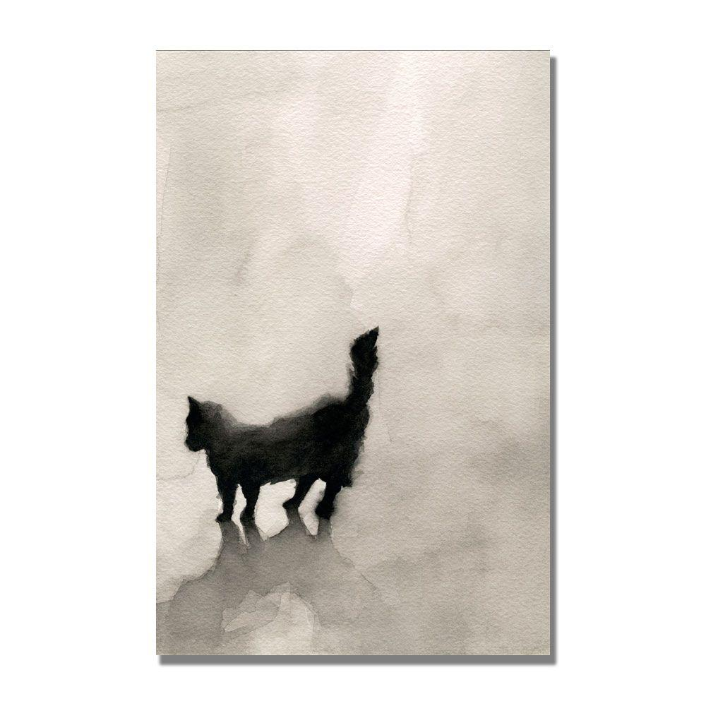 null 30 in. x 47 in. Black Cat Canvas Art-DISCONTINUED