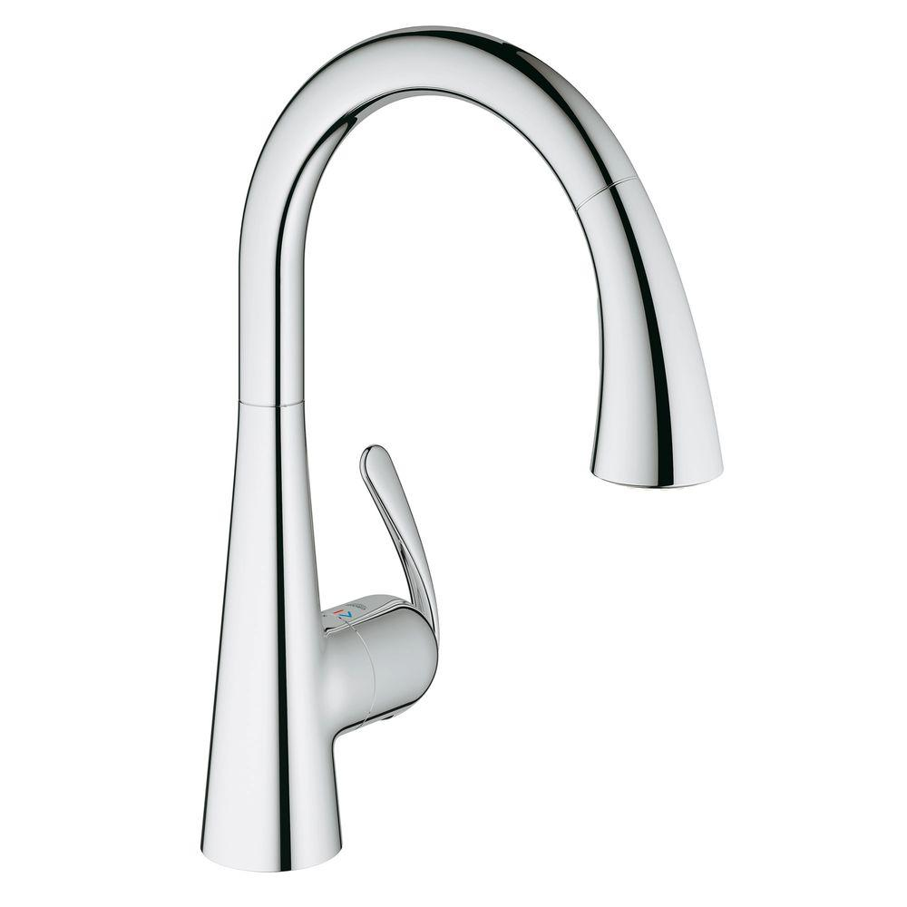 grohe ladylux cafe single handle pull down sprayer kitchen faucet rh homedepot com grohe ladylux kitchen faucet installation grohe ladylux kitchen faucet leaking