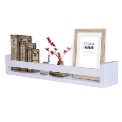 18 in. White Wooden Floating Decorative Wall Ledge Shelf