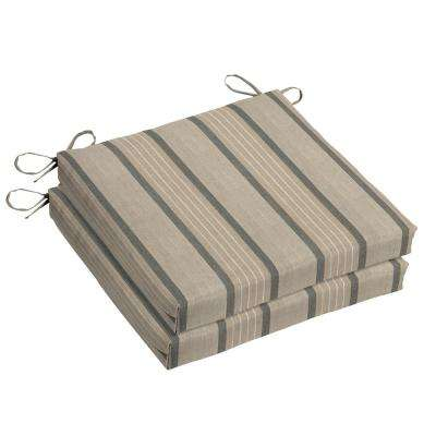 Sunbrella Cove Pebble Square Outdoor Seat Cushion (2 Pack)