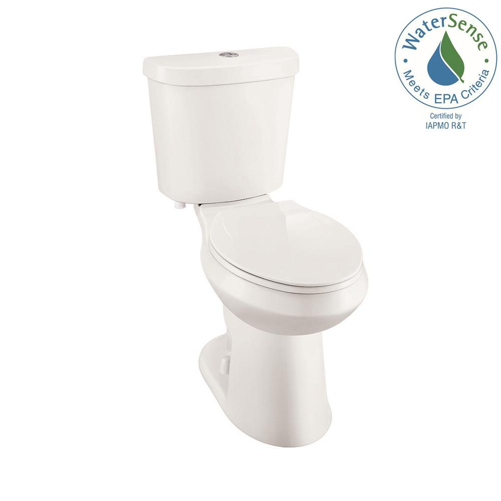 2-piece 1.1 GPF/1.6 GPF High Efficiency Dual Flush Elongated Toilet in