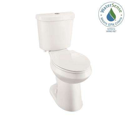 2-piece 1.1 GPF/1.6 GPF High Efficiency Dual Flush Elongated Toilet in Biscuit